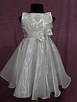 Нарядное детское платье на 3-5 лет белое