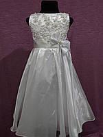 Нарядное детское платье белое на 5-7 лет