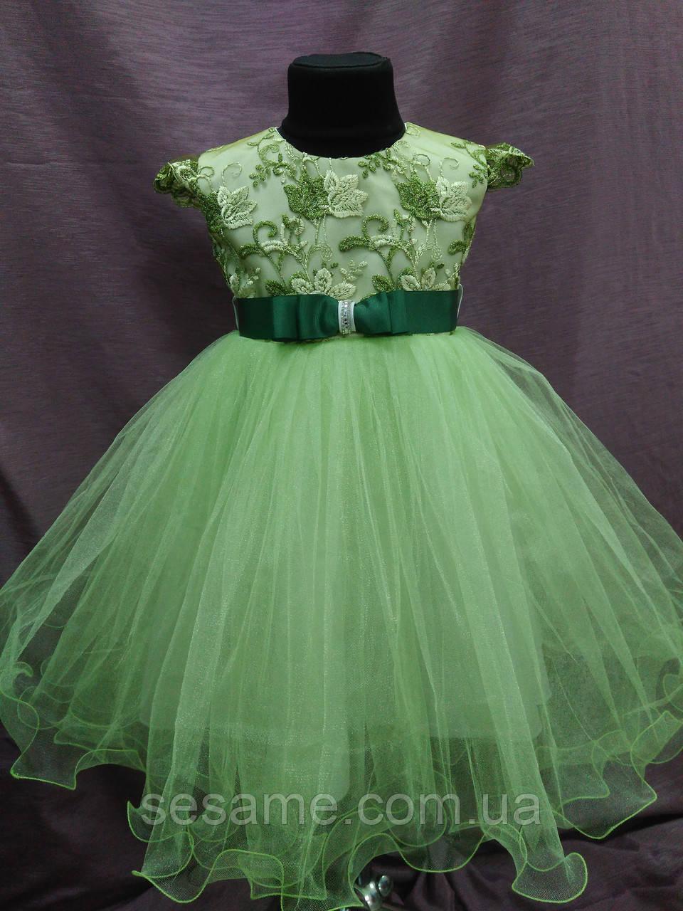 0b497491947 Нарядное Детское Платье Салатовое на 3-5 Лет — в Категории
