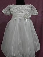 Детское платье нарядное на 3-5 лет белое