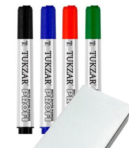 Набор маркеров для доски TZ-5596-4 (сухостираемые)