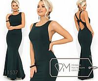 Вечернее платье покроя-русалка с несъемным бантиком на открытой спинке 11537