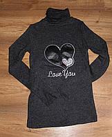 Гольф, свитер женский  с горлом серый, фото 1