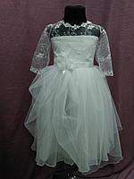 Платье детское нарядное белое на 4-6 лет, фото 1