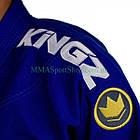 Кимоно для Джиу-Джитсу KINGZ Comp 450 V5 Синее, фото 6