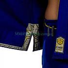 Кимоно для Джиу-Джитсу KINGZ Comp 450 V5 Синее, фото 9