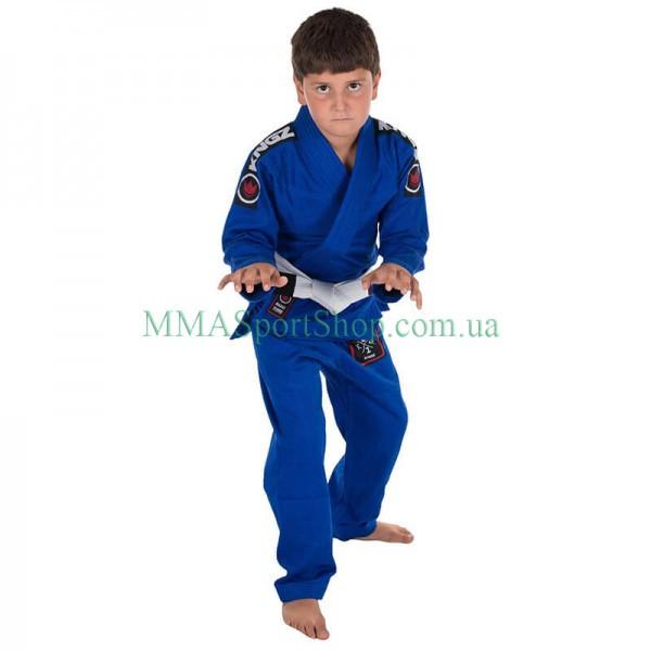 Детское кимоно для Джиу-Джитсу KINGZ Basic 2.0 Синее