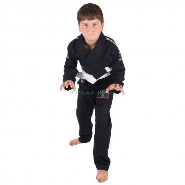 Детское кимоно для Джиу-Джитсу KINGZ Basic 2.0 Черное