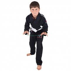 Дитяче кімоно для Джиу-Джитсу KINGZ Basic 2.0 Чорне