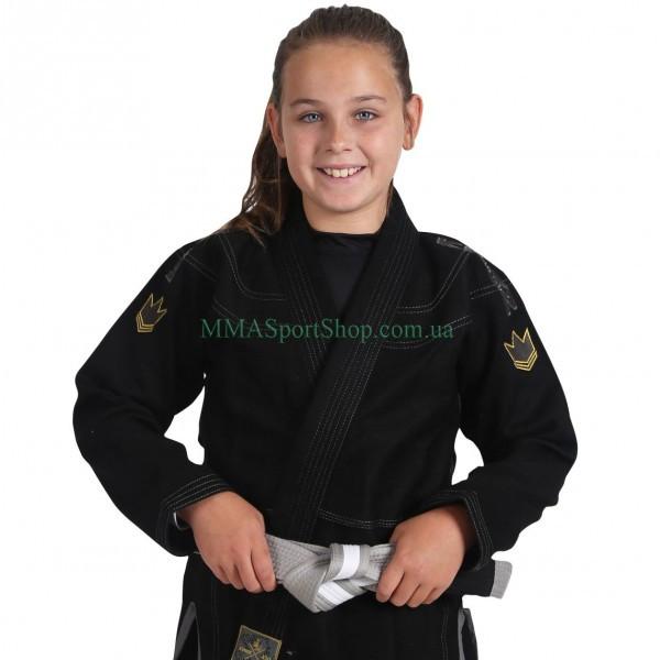 Детское кимоно для Джиу-Джитсу KINGZ Comp V5 Черное