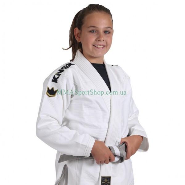 Детское кимоно для Джиу-Джитсу KINGZ Comp V5 Белое