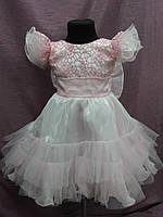 Платье детское нарядное нежно-розовое на 3-5 лет, фото 1
