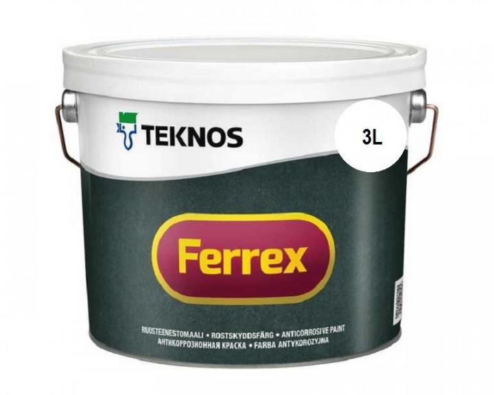 Эмаль алкидная TEKNOS FERREX антикоррозионная (белая) 3 л