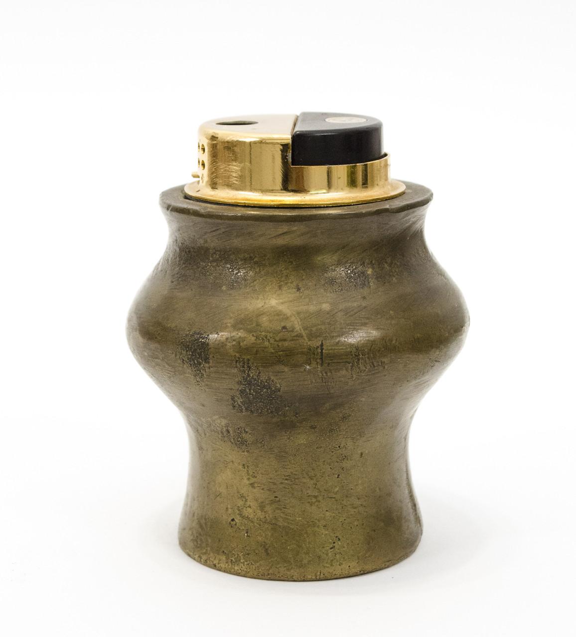 Газовая настольная зажигалка, бронзовый корпус, Германия, рабочая