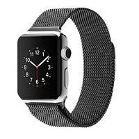 Ремешок Milanese Loop для Apple Watch 38/40mm металлический черный магнитный ARM Series 5 4 3 2 1 Black