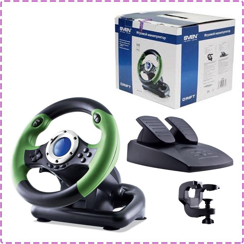 Игровой руль для ПК Sven Drift, руль с педалями для компьютера