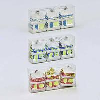 Ёлочная игрушка С 30877 Домик (200) 3 цвета, 3шт в наборе
