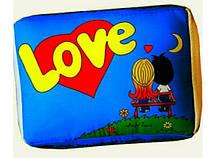 Подушка Love is голубая