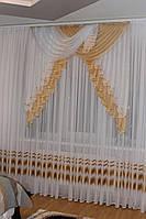 Шифоновый ламбрекен Жозе 1,50-2м