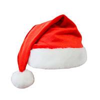 Красная Шапка Деда Мороза, колпак новогодний красный с белым (набор 12шт)