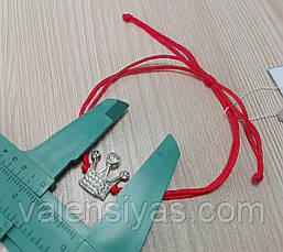 Браслет-оберег красная нить с короной, фото 3
