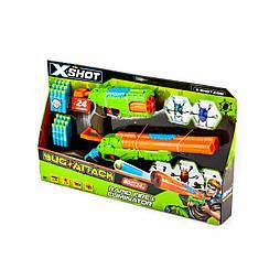 X -Shot Набор бластеров Огонь по жукам (2 вида оружия, 5 жуков, 24 патрона)