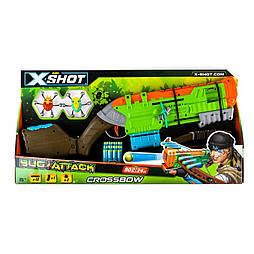 X-Shot Скорострельный бластер Crossbow Вогонь по жукам (2 жука, 12 патронов)