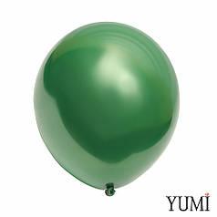 """Шар 12"""" LATEX OCCIDENTAL-МК дабл стафф зеленый (черный деко в зеленом кристалле)"""