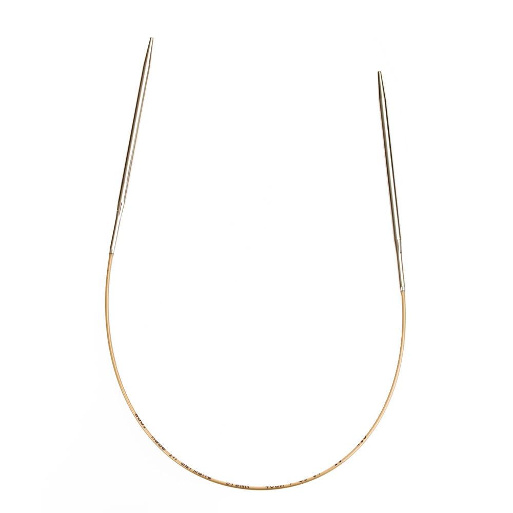 Спицы круговые супертонкие, белая бронза 1.50 mm-60 cm_Addi