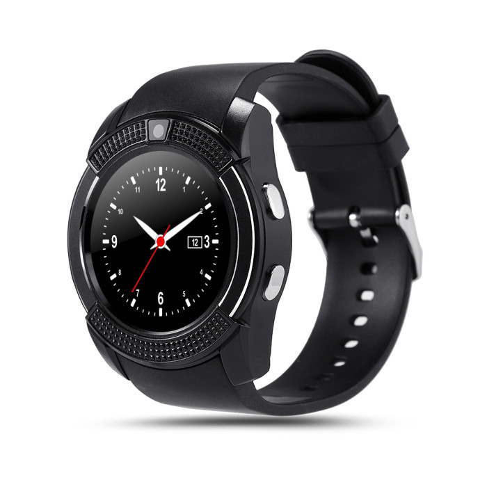 Часы-телефон Smart Watch V8 black (телефон, смс, шагомер,калории, мониторинг сна, диктофон)