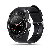Часы-телефон Smart Watch V8 black (телефон, смс, шагомер,калории, мониторинг сна, диктофон), фото 1