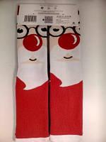 """Новогодние носки женские  зимние махровые внутри высокие  хлопок """"Ekmen """""""