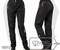 Штаны в спортивном стиле из плащёвки на флисе покроя 6 карманов на эластичном поясе с застёжкой, 2 цвета