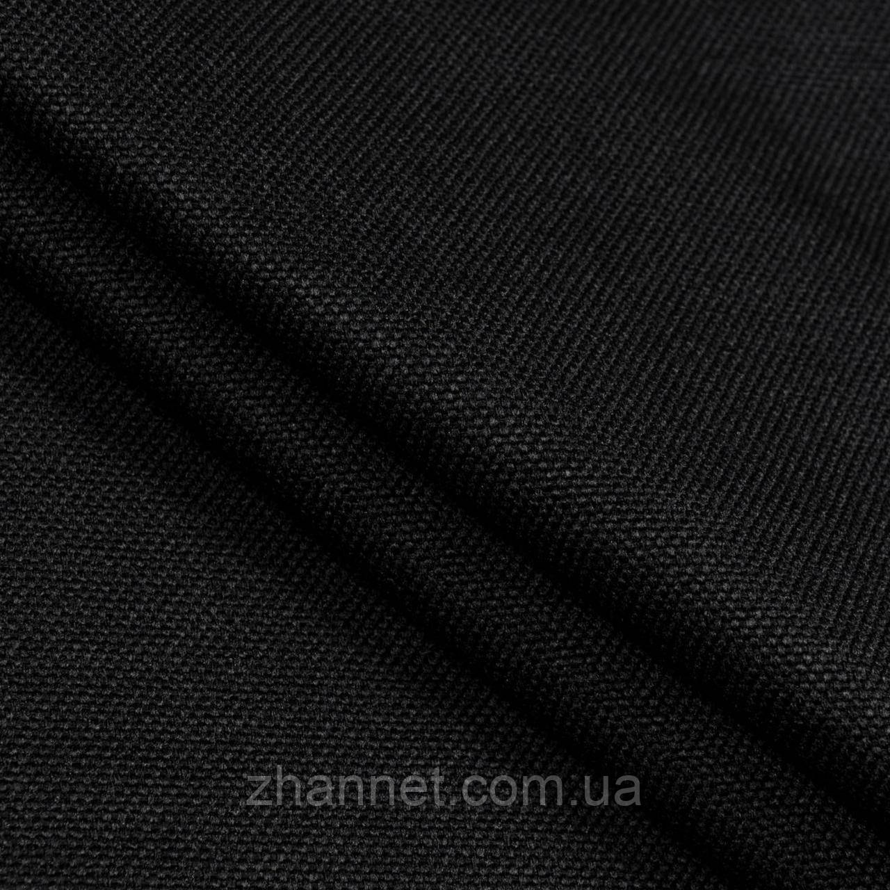 Ткань Блекаут рогожка черный 280 см (328551)