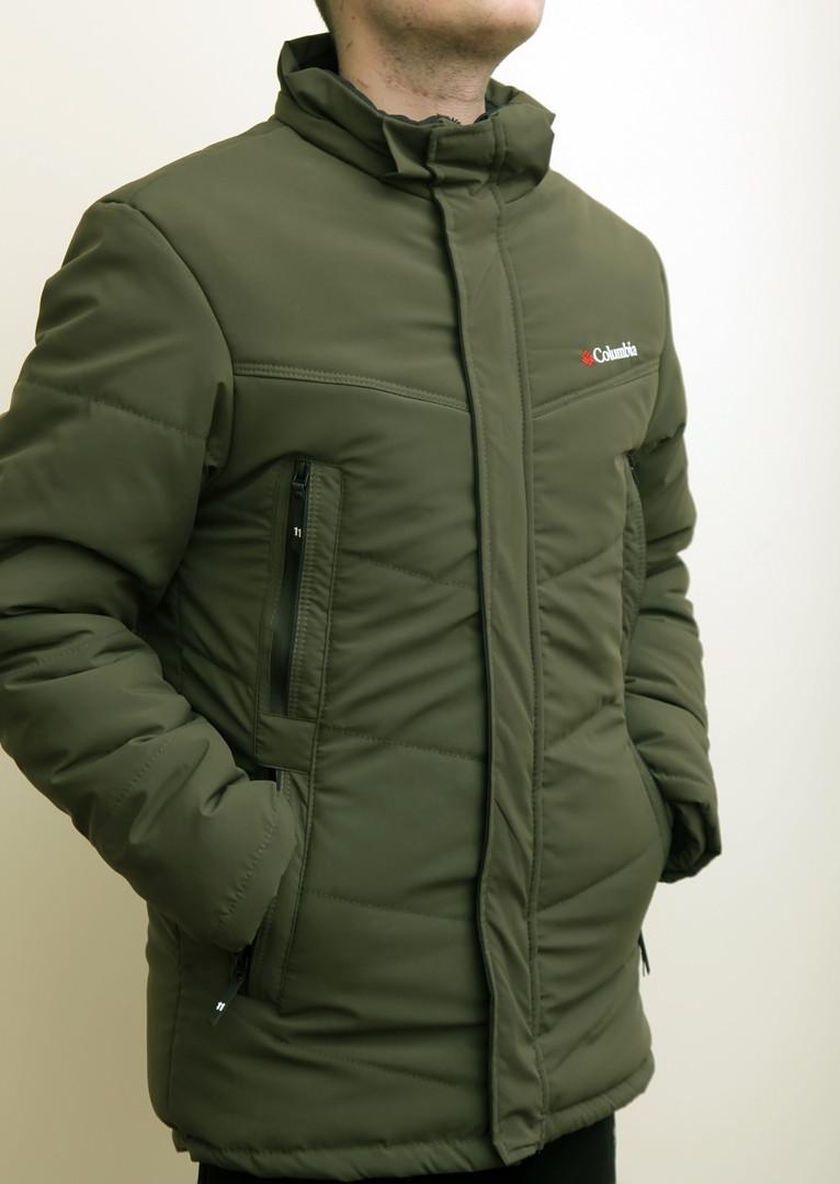Зимняя мужская куртка Columbia зеленая с теплым капюшоном - Интернет-магазин  обуви и одежды KedON 5e1949eeb1c6c