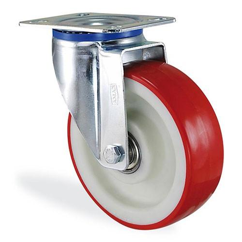 Колеса поворотное с крепёжной панелью из полиамида 4102-ST-100-B