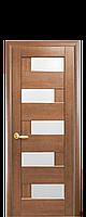 Дверне полотно Піана зі склом сатин колір Вільха Золота