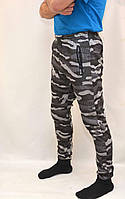 Штаны зимние мужские камуфляжные  под манжет Темно серый, M