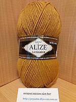 Полушерстяная пряжа (49%-шерсть,51%-акрил,100г/240м) Alize Lanagold 645(горчичный)