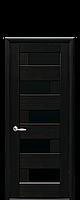 Дверне полотно Піана з чорним склом колір  Венге new