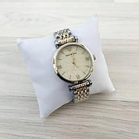 Часы стальные Emporio Armani - цвет корпуса gold@silver
