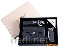 Подарочный набор зажигалка-нож/брелок/портмоне