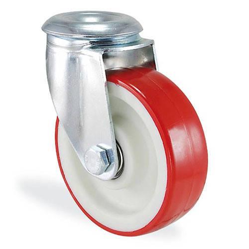 Колесо поворотное с отверствием из полиамида 4105-ST-200-B Standart