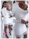 Платье кашемировое по фигуре внизу с кружевом, фото 4
