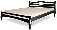 Кровать полуторная с натурального дерева в спальню ТИС КОРОНА 1 120*190 сосна