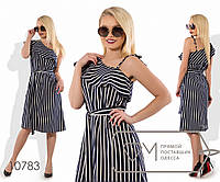 Платье-туника миди прямое из вискозы под длинный пояс с коротким рукавом и декольте на одно плечо, 2 цвета