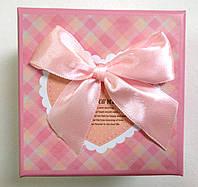 Подарочная коробка для часов Розовая с бантом