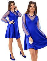 Платье нарядное с жемчужинами в расцветках 26250, фото 1