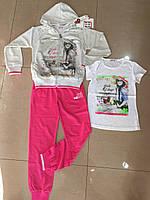 Спортивные трикотажные костюмы тройки для девочек.Размеры 134-164 см.Фирма GOLOXY Венгрия, фото 1