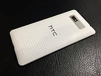 Декоративная защитная пленка для HTC Desire 600 микро карбон белый, фото 1